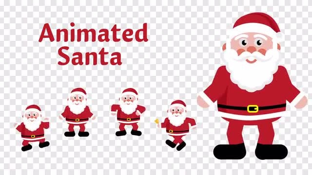 Santa Animations: Stock Motion Graphics