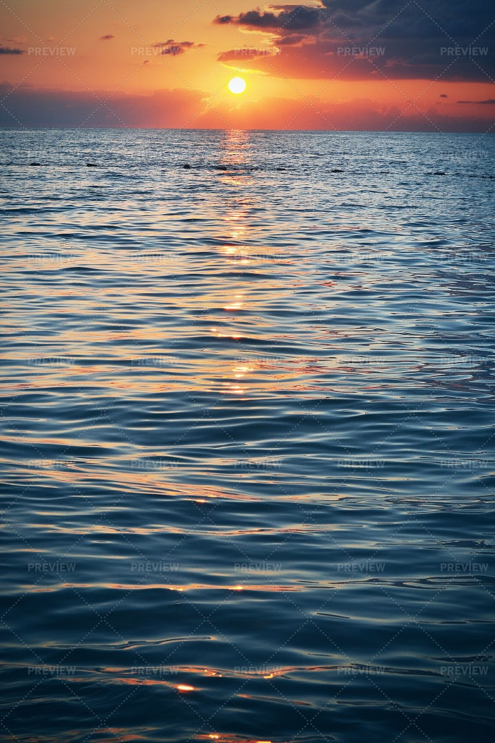Sunrise At Black Sea: Stock Photos