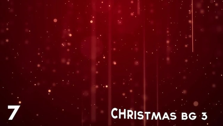 Christmas Backgrounds : Stock Motion Graphics