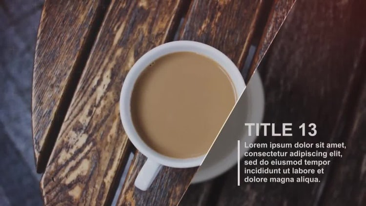 Elegant Diagonal Slideshow: After Effects Templates