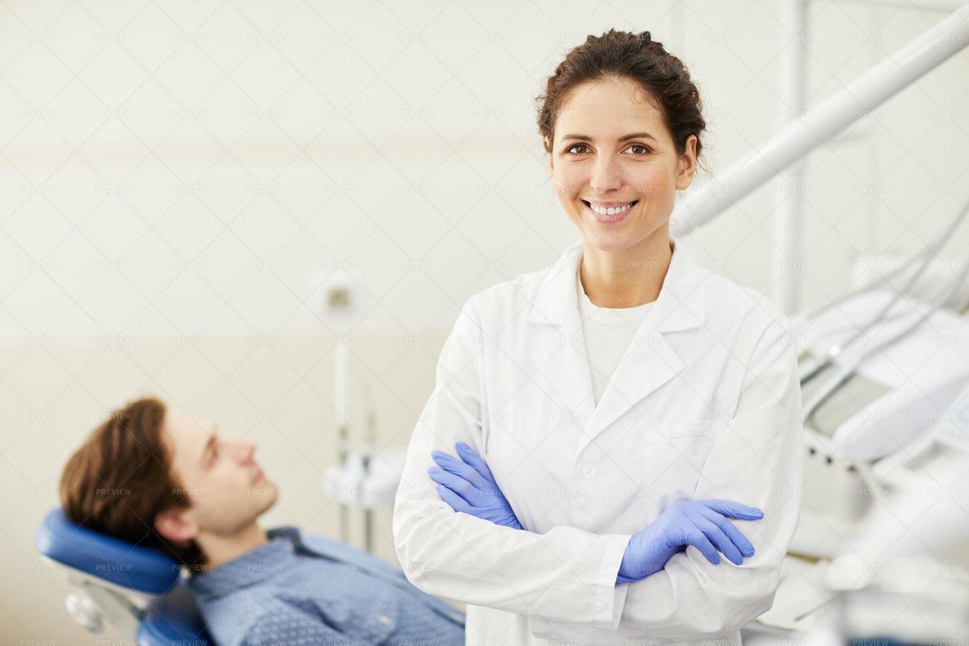 Confident Female Dentist: Stock Photos
