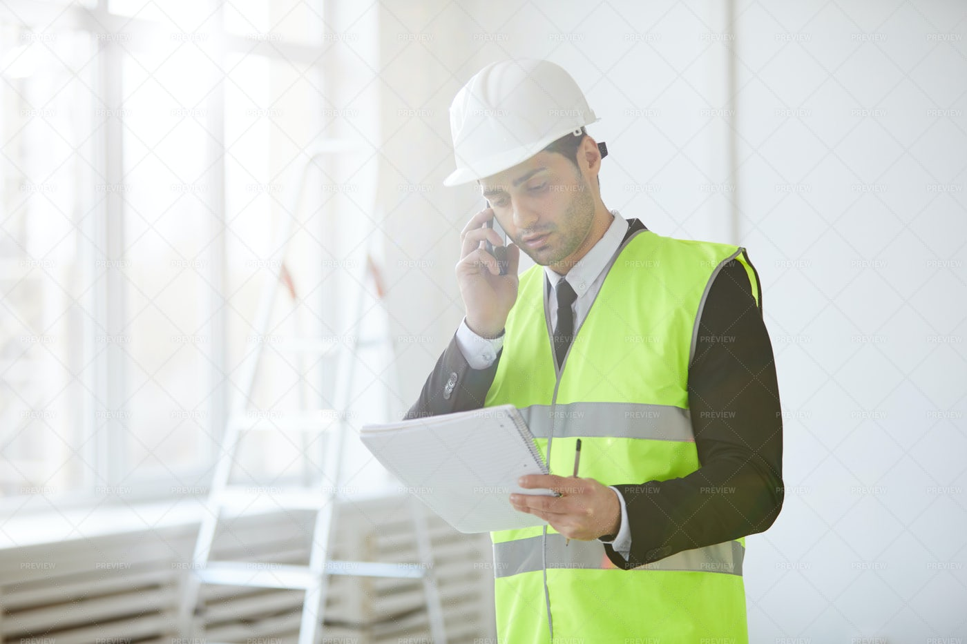 Inspector At Construction Site: Stock Photos