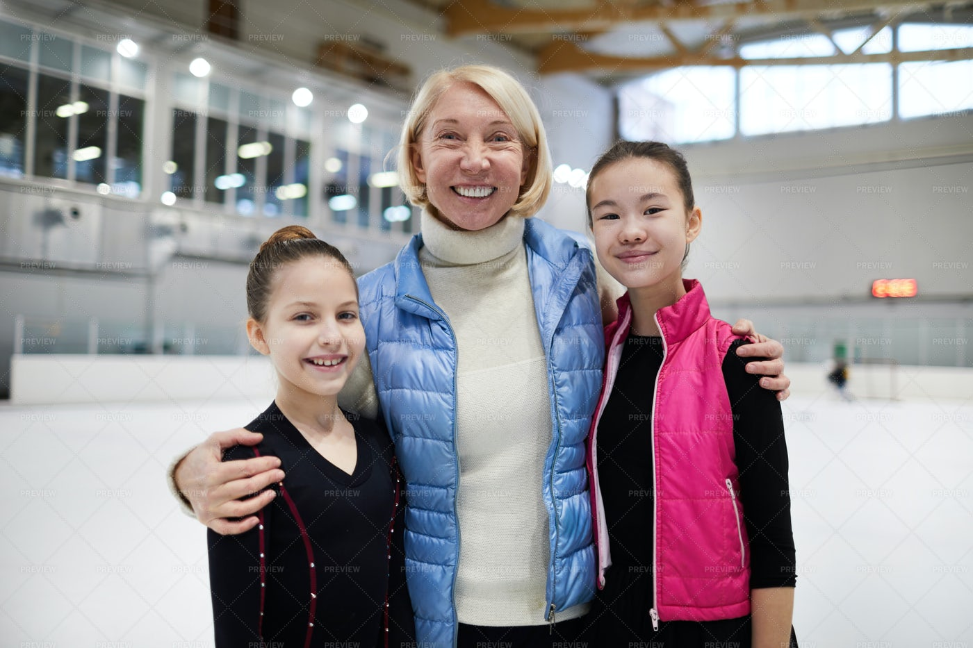 Figure Skating Coach Posing With...: Stock Photos