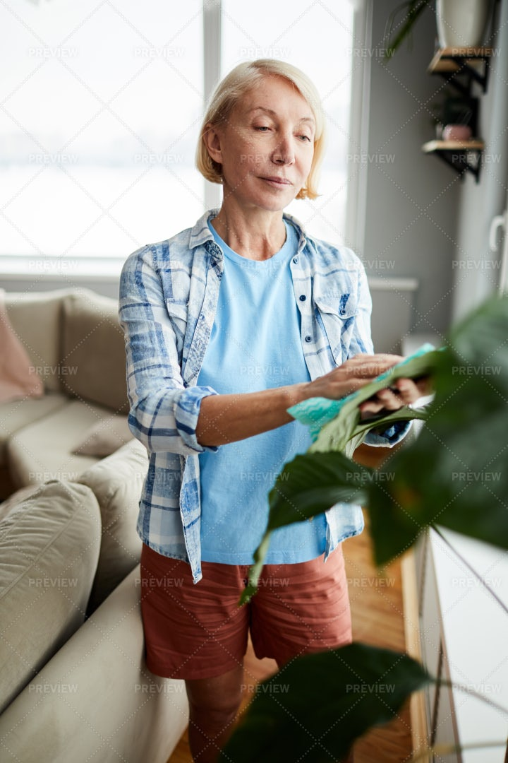 Attractive Woman Taking Care Of...: Stock Photos