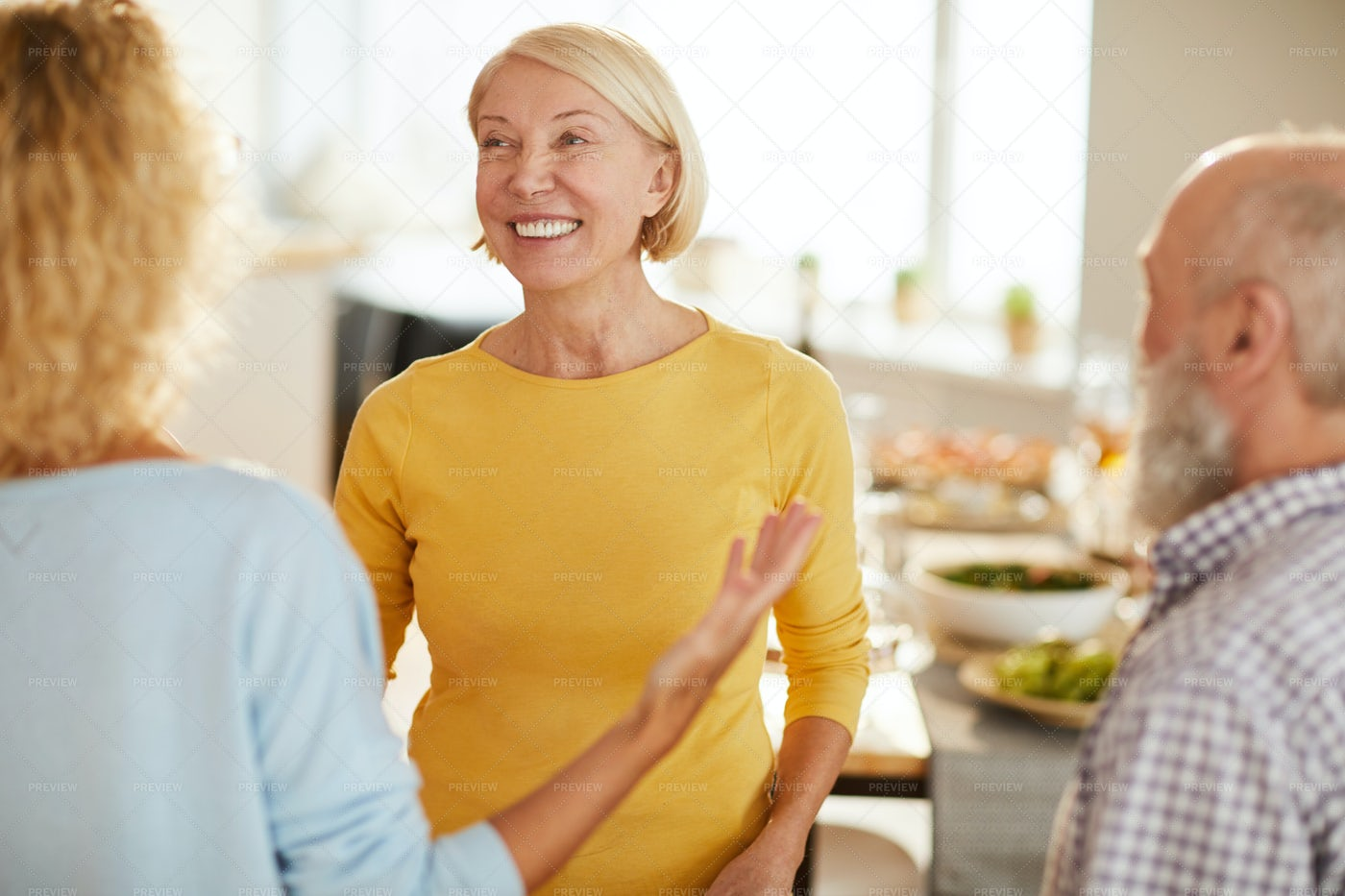 Welcoming Friends To Home: Stock Photos