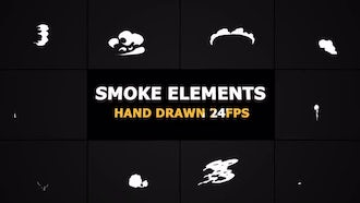 2d FX SMOKE Elements 24 fps: Motion Graphics
