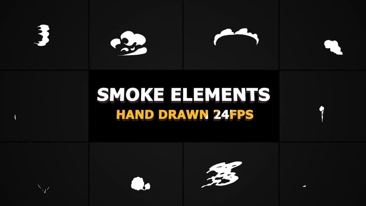 2d FX SMOKE Elements 24 fps: Stock Motion Graphics