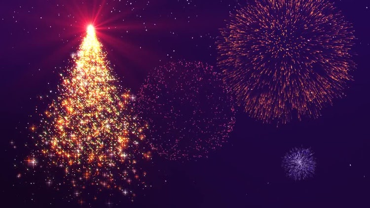 xmas new year background animation stock motion graphics