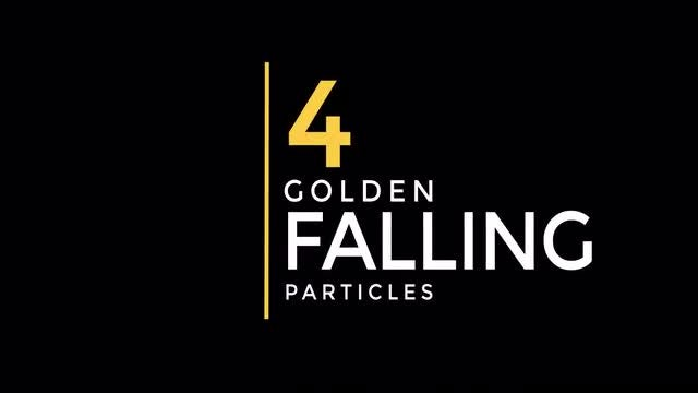 Golden Falling Particles: Stock Motion Graphics