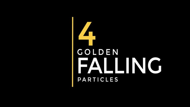 Golden Falling Particles: Motion Graphics