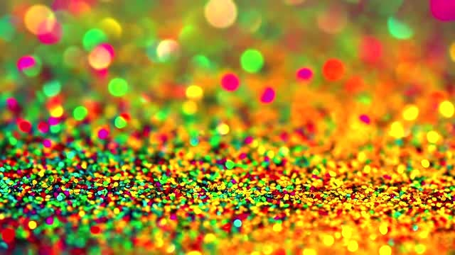 Red and Golden Sparking Glitter: Stock Video