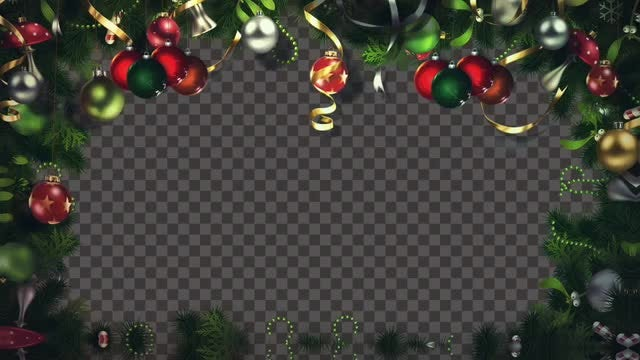 Christmas Lights Frame: Stock Motion Graphics