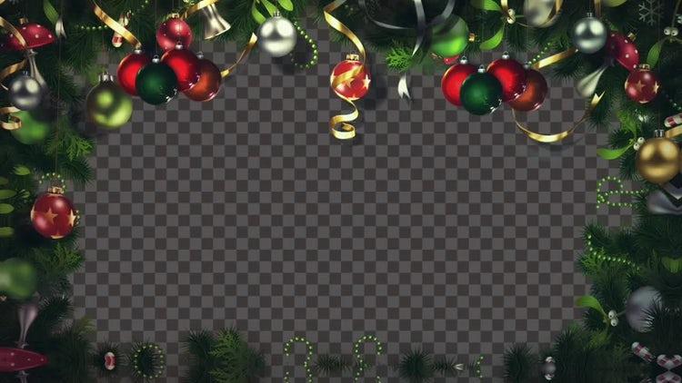 christmas lights frame stock motion graphics - Christmas Lights Frame
