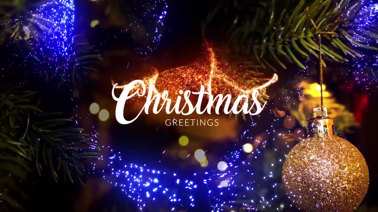 Christmas And New Year Greetings Opener After Effects Templates