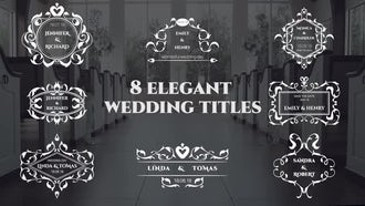 Elegant Wedding Titles : Premiere Pro Templates