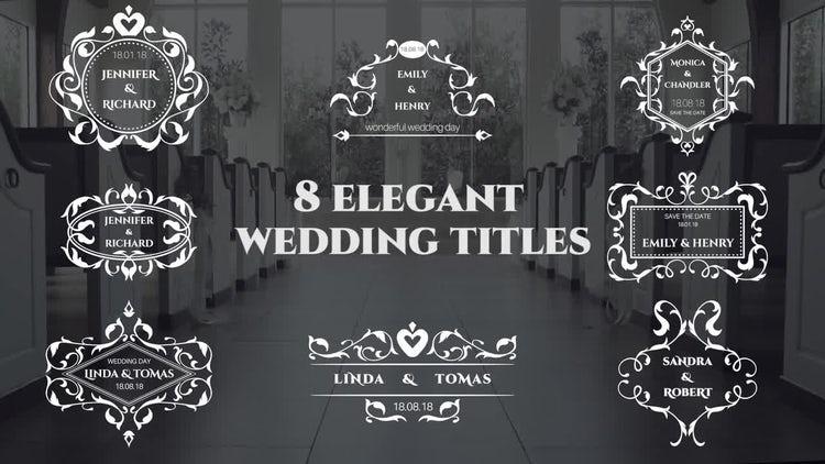Elegant Wedding Titles : Premiere Pro Templates