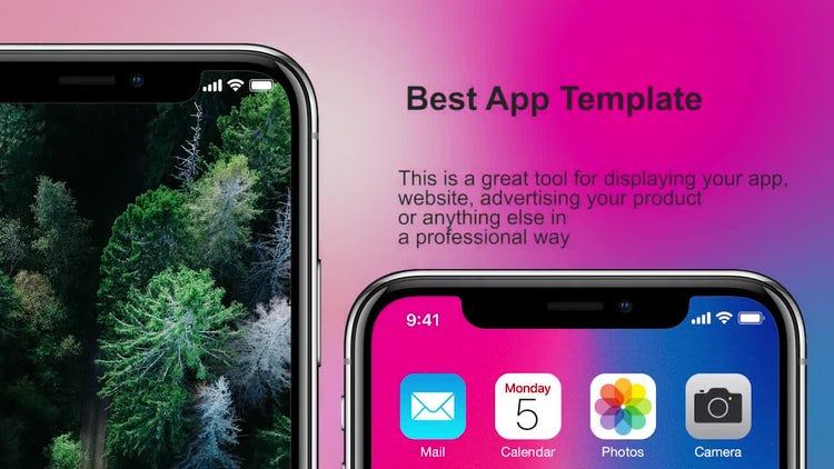Phone X App Promo: Premiere Pro Templates