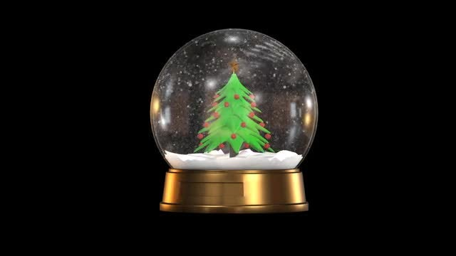 Christmas Ball Alpha: Stock Motion Graphics