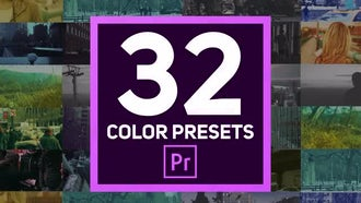 32 Color Presets: Premiere Pro Templates