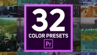 32 Color Presets: Premiere Pro Templates