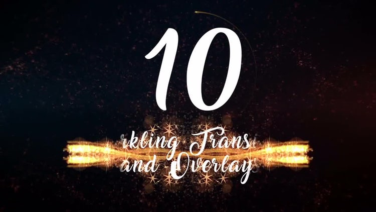 10 Sparkling Transitions and Overlays: Stock Motion Graphics