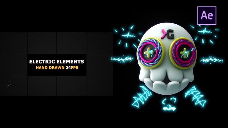 Electric Elements & Transitions: After Effects Templates