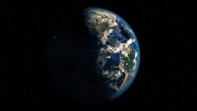 Realistic Earth Spin: Stock Motion Graphics