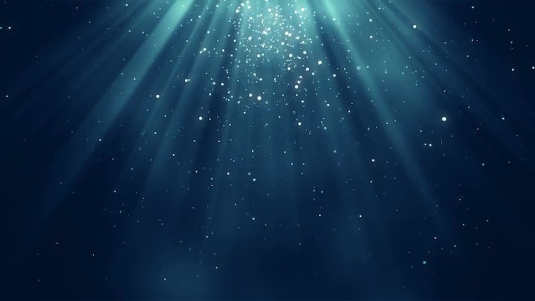 Blue Particles Background: Stock Motion Graphics