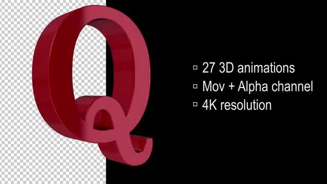 3d Loop Letters: Stock Motion Graphics