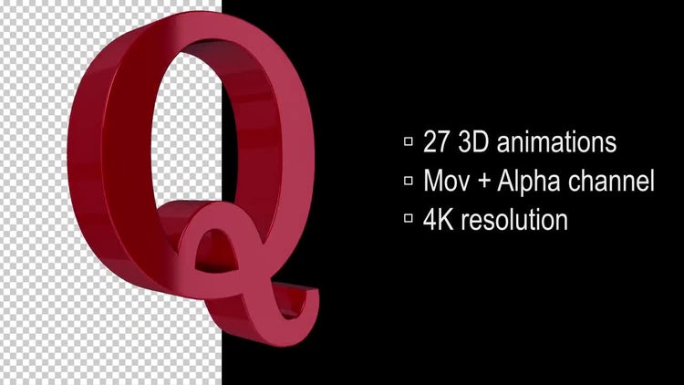 3d Loop Letters: Motion Graphics