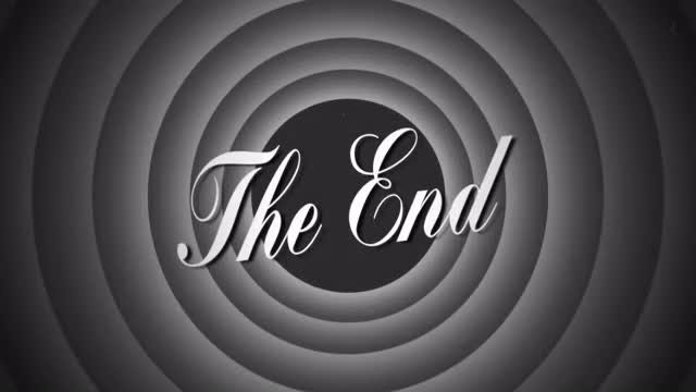 The End Retro Style Film: Stock Motion Graphics