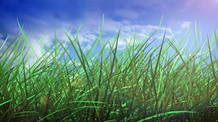 Grass And Sky: Stock Motion Graphics