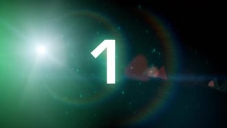 Space Countdown: Motion Graphics