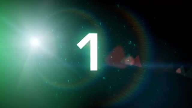 Space Countdown: Stock Motion Graphics