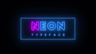 Neon Typeface: After Effects Templates