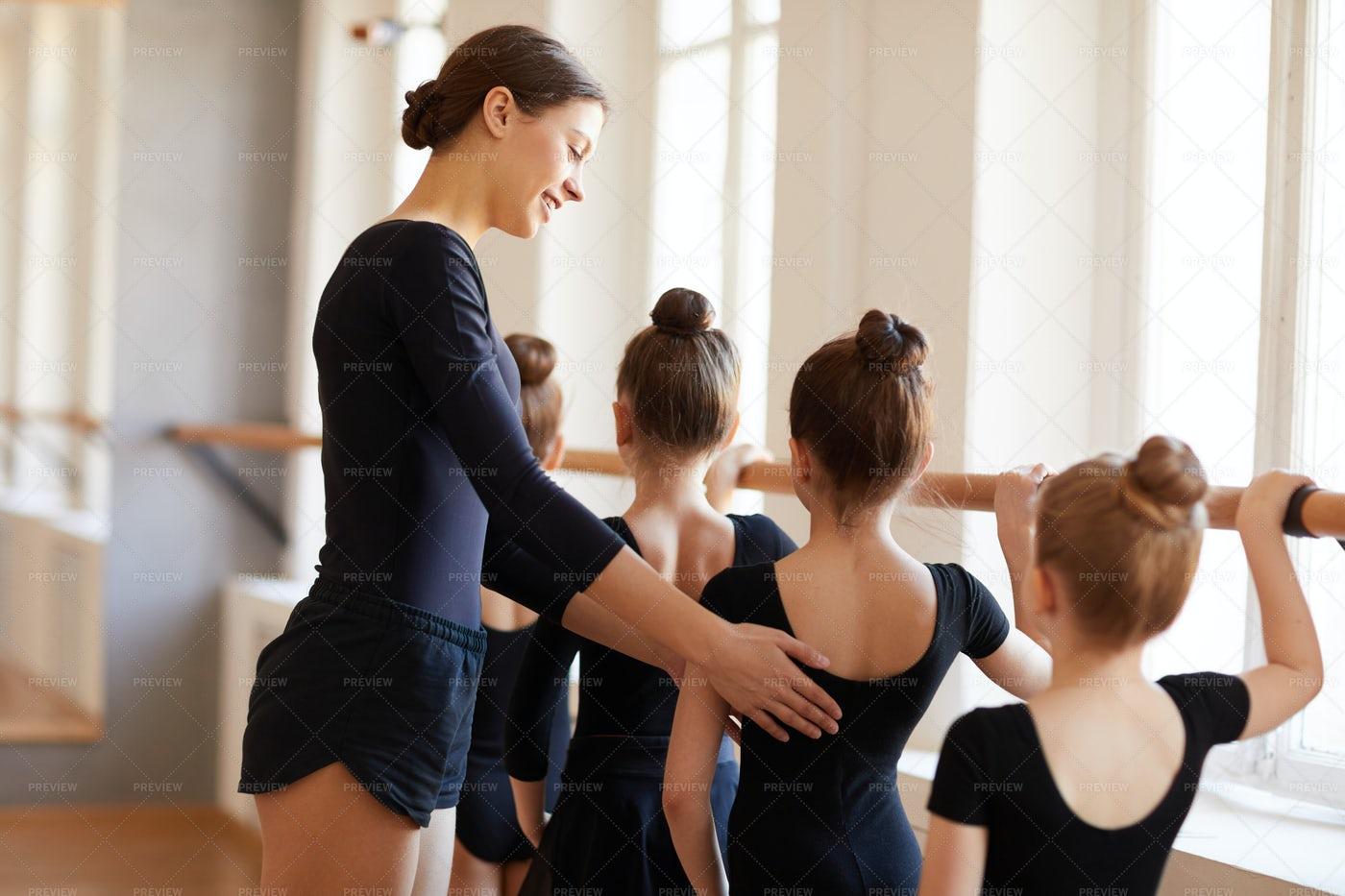 Little Ballet Dancers: Stock Photos