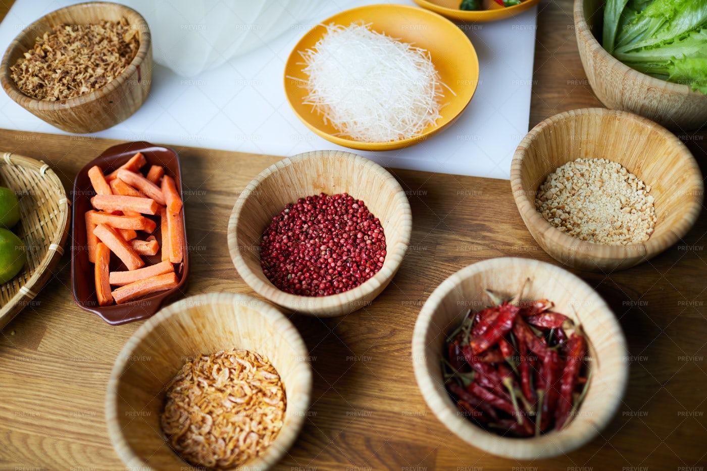 Spicy Ingredients Background: Stock Photos