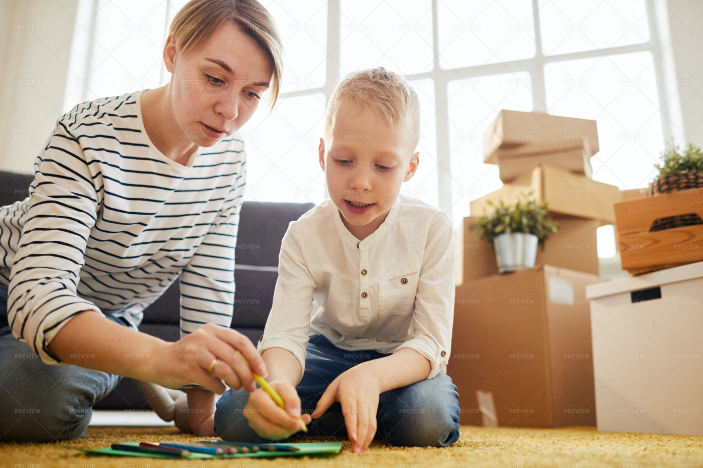 Developing Drawing Skill Of Child: Stock Photos