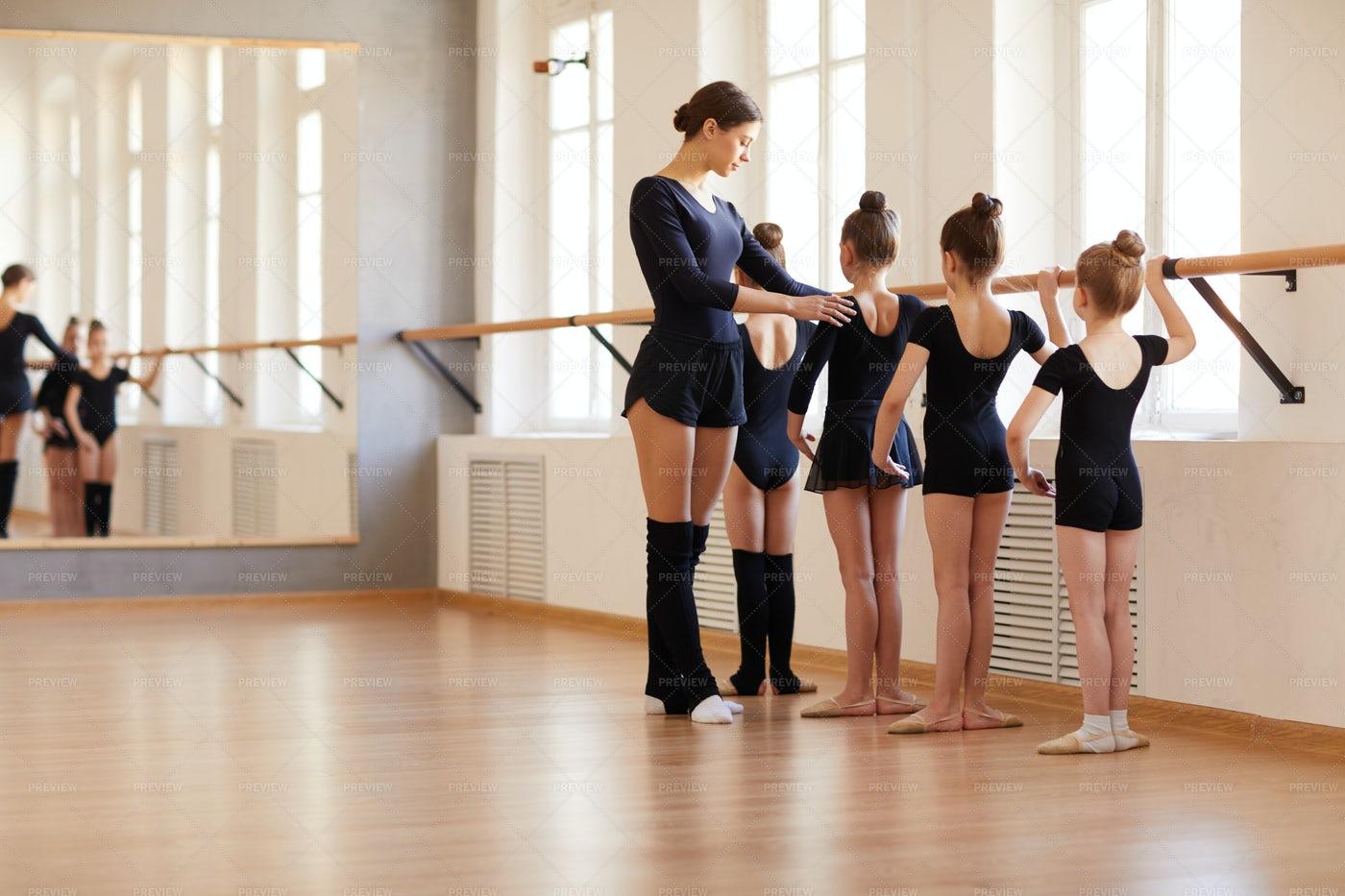 Ballet School For Girls: Stock Photos