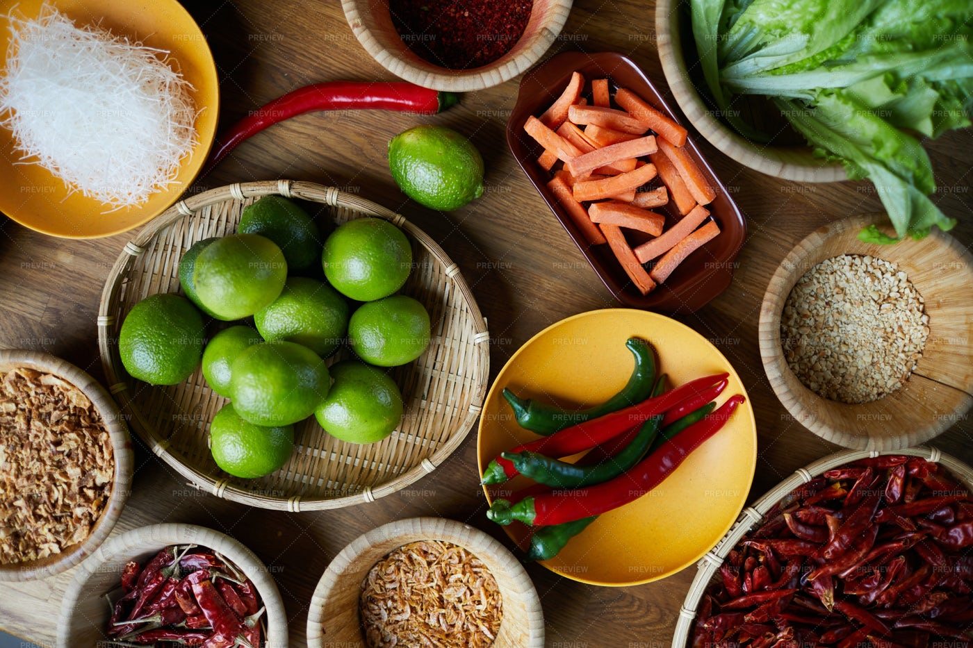 Spices In Bowls: Stock Photos