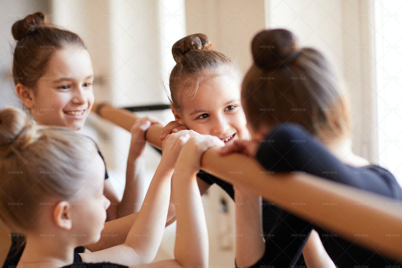 Little Girls In Ballet Class: Stock Photos