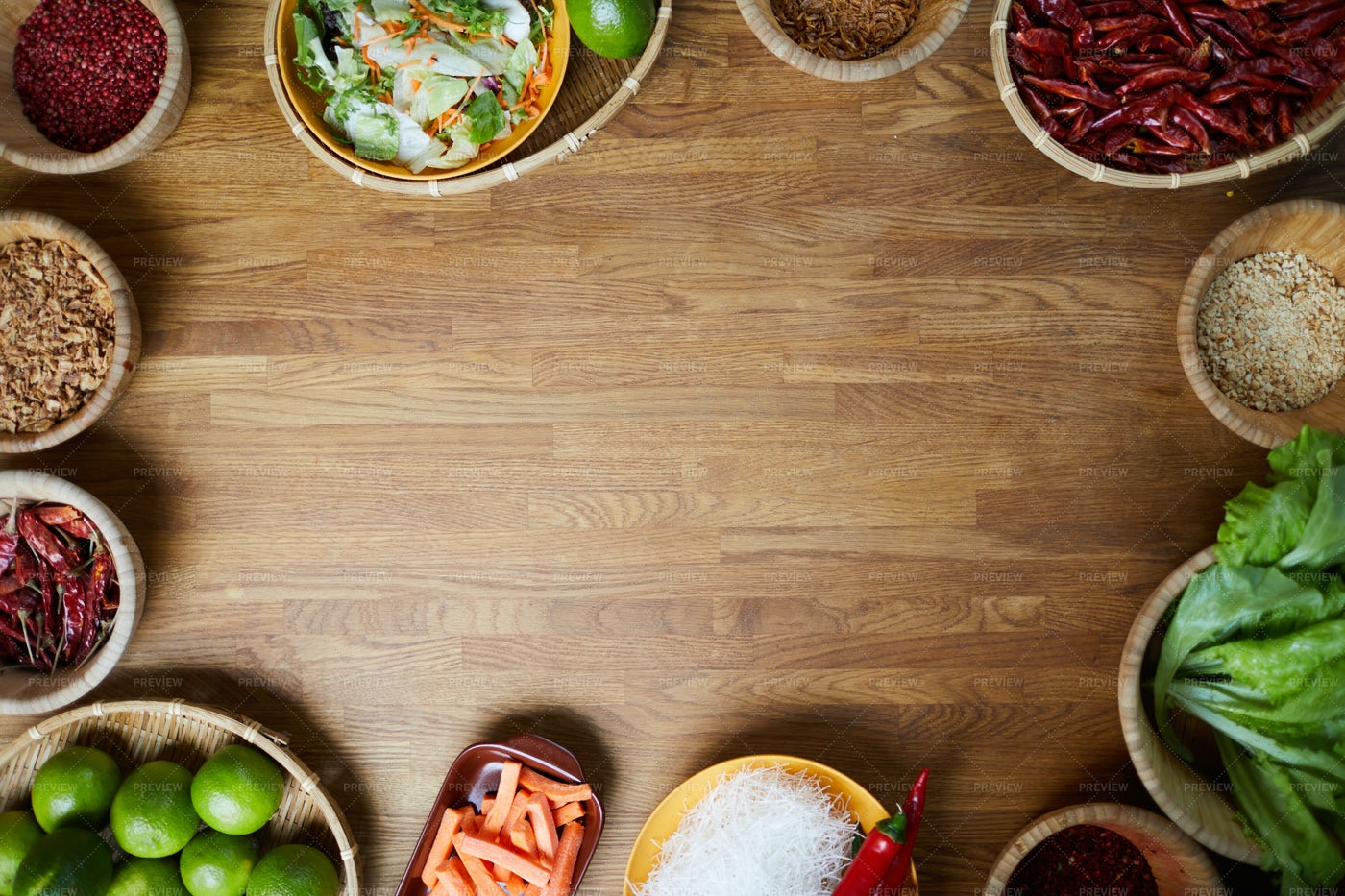 Oriental Spices Background: Stock Photos