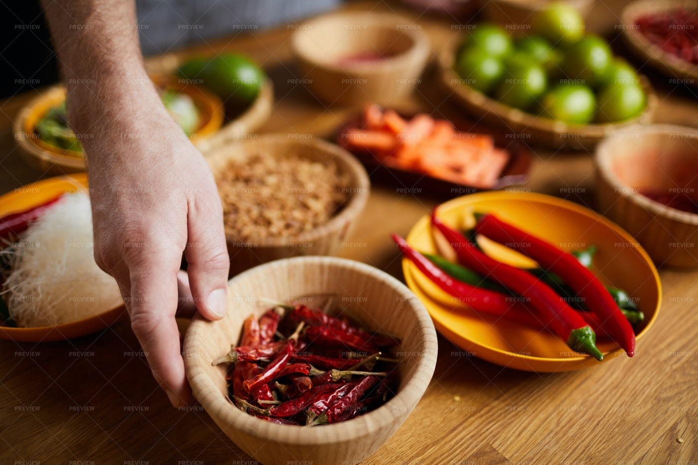 Chili Pepper Spices: Stock Photos