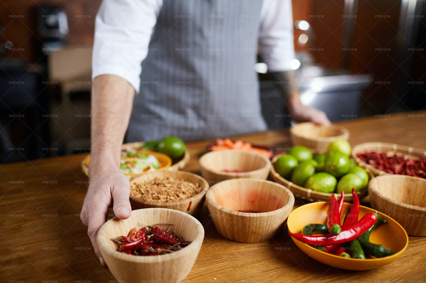 Chef Choosing Spices: Stock Photos