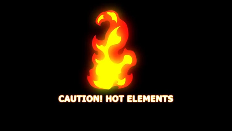 Hand Drawn Fire Elements: Stock Motion Graphics