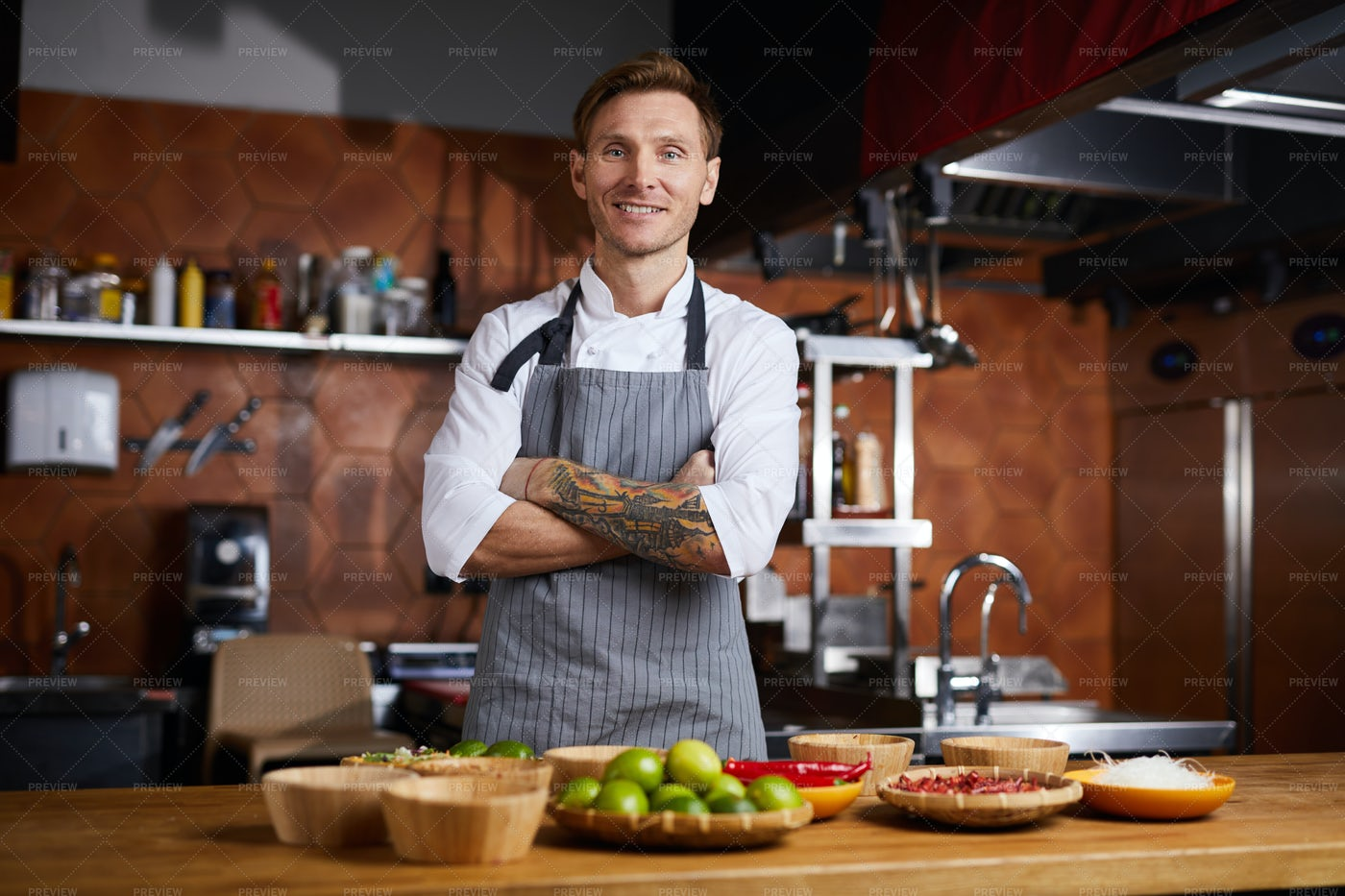 Chef Posing: Stock Photos