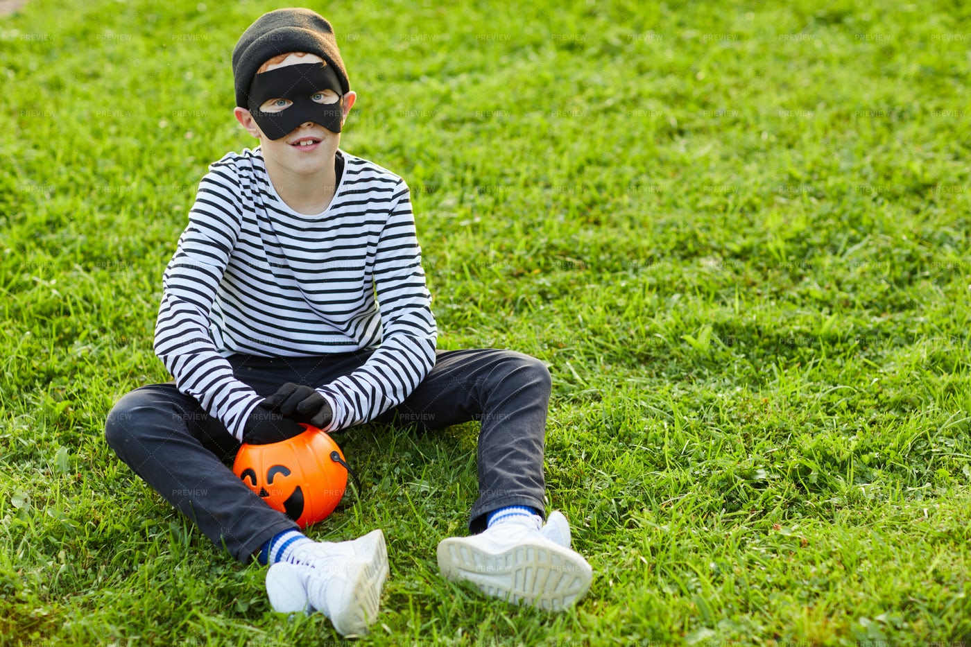 Little Boy Wearing Halloween...: Stock Photos