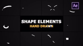Flash FX Shape Lines: After Effects Templates