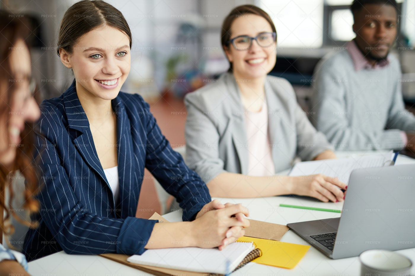 Young Businesswoman At Meeting...: Stock Photos