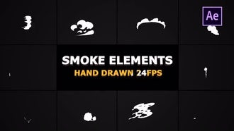 2D FX Smoke Elements 24 Fps: After Effects Templates